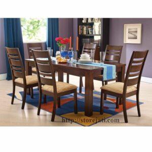 kursi makan kayu jati minimalis