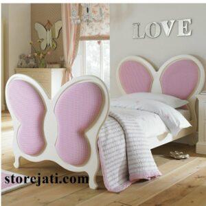 tempat tidur anak karakter kupu kupu