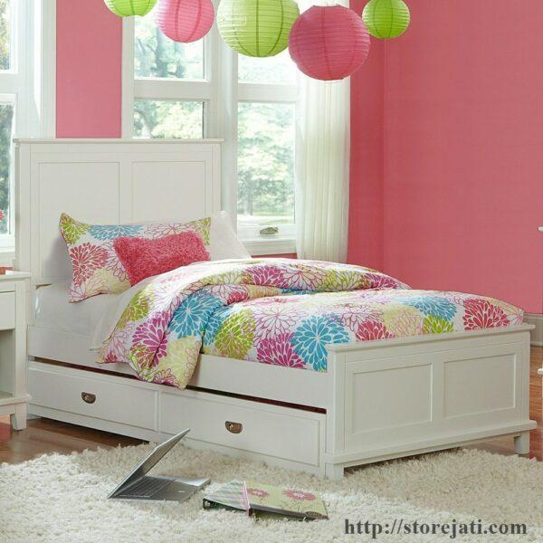 harga tempat tidur anak sorong murah