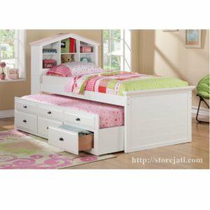 tempat tidur anak unik karakter rumah