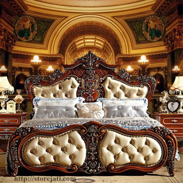 tempat tidur mewah ukir jepara