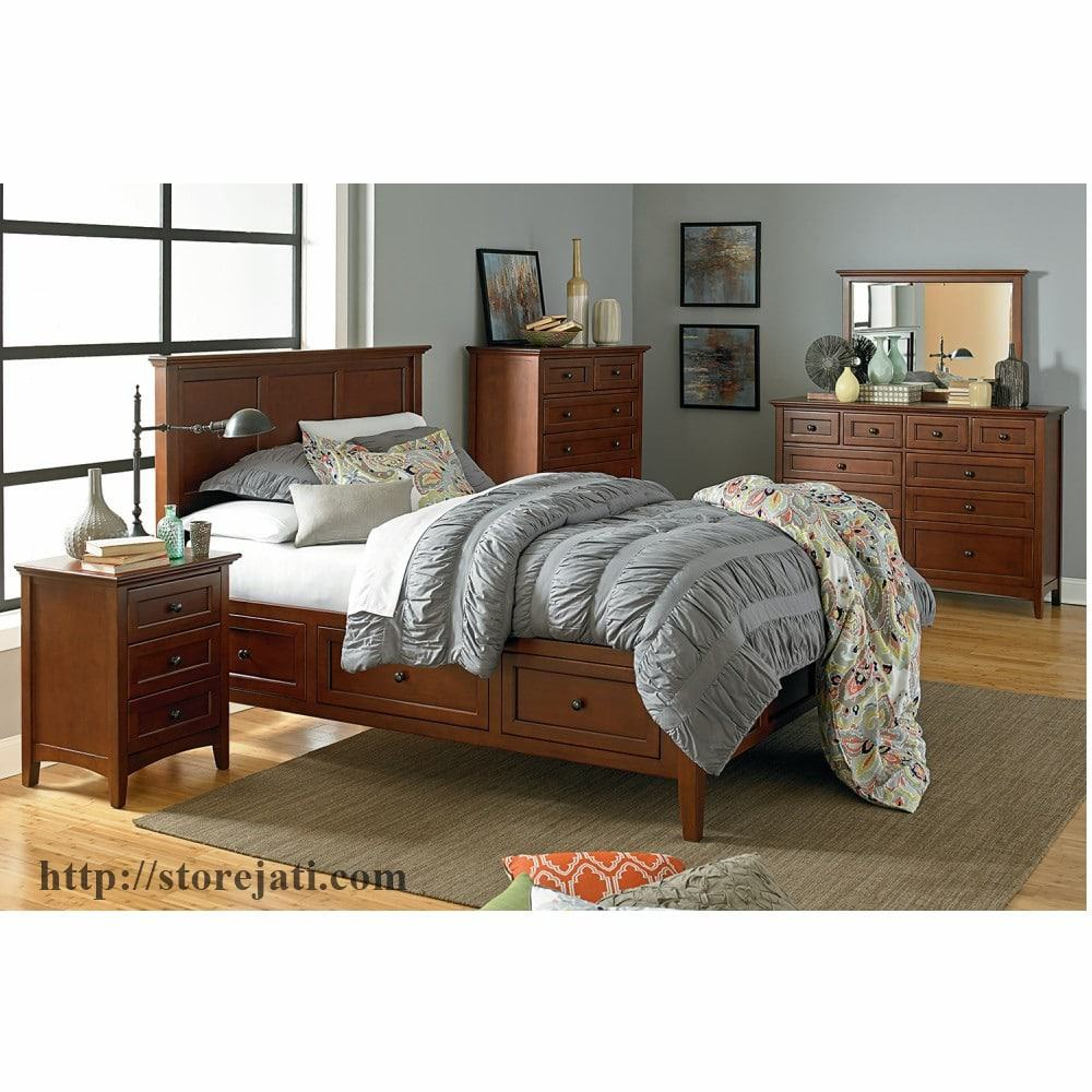 Kamar Tidur Utama Minimalis Modern Ruang Ukuran 3x4 Store Jati