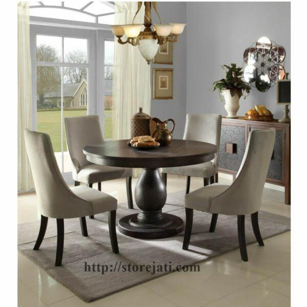 meja makan jati mewah 4 kursi
