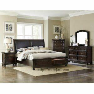 set tempat tidur utama mewah