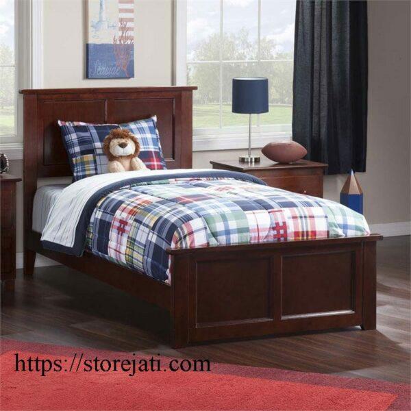 tempat tidur anak kayu modern