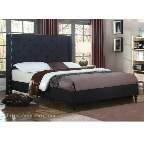 tempat tidur minimalis jati mewah