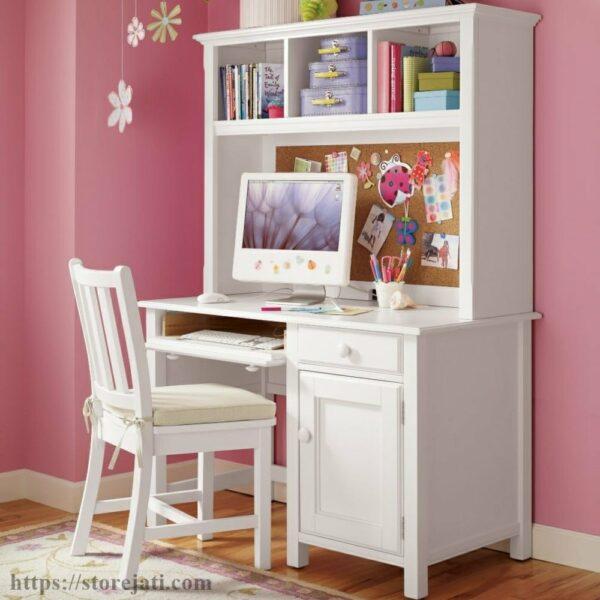 meja belajar kayu minimalis