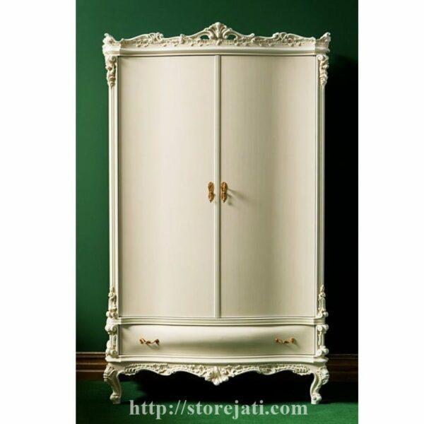 lemari baju kayu 2 pintu
