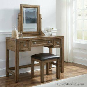 meja rias kayu jati modern