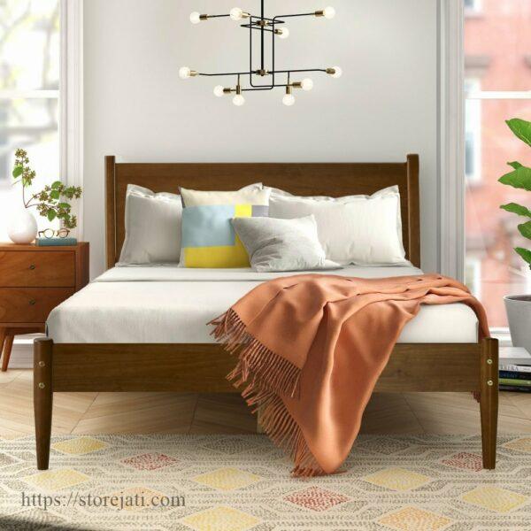 dipan tempat tidur kayu jati