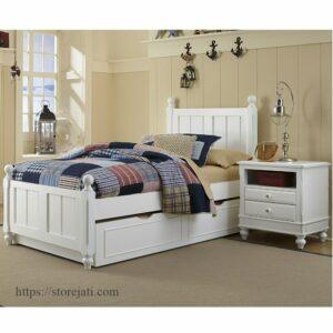 jual kamar set tempat tidur anak sorong