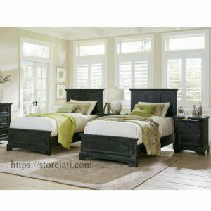 set tempat tidur anak kembar