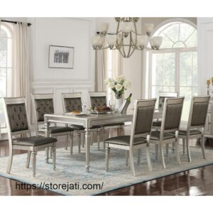 meja makan minimalis 8 kursi