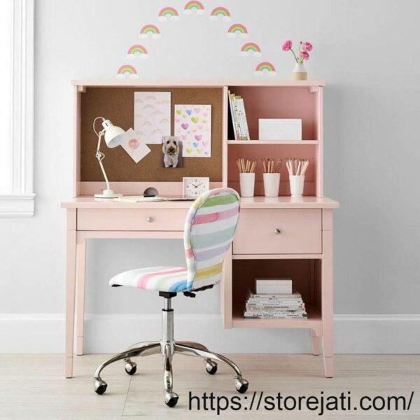 meja belajar anak perempuan minimalis